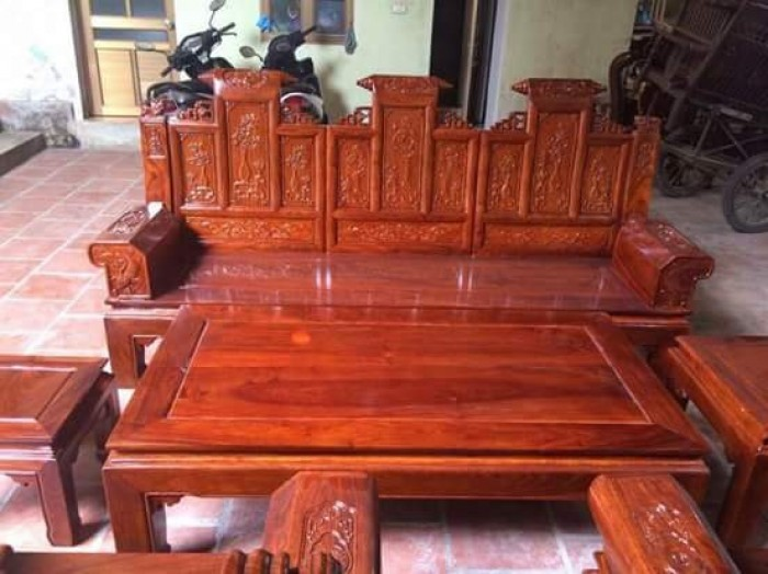 Bộ bàn ghế âu á kiểu cuốn thư tay hộp gỗ lim11