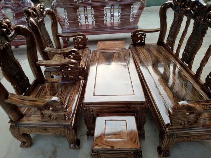 Bộ Bàn Ghế Gỗ Tràm Phun Pu Giả Mun3