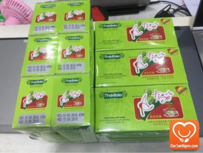 Trà Atiso túi lọc hộp 20 tép Thái Bảo - Thực phẩm chức năng tốt cho người gan yếu, ăn uống khó tiêu, táo bón, máu nhiễm mỡ.
