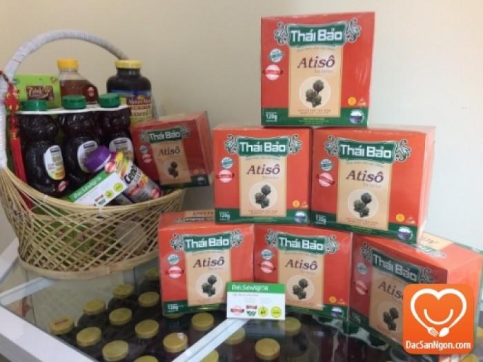 Trà Atiso túi lọc Thái Bảo hộp 60 tép - Thực phẩm chức năng tốt cho người gan yếu, ăn uống khó tiêu, táo bón, máu nhiễm mỡ.
