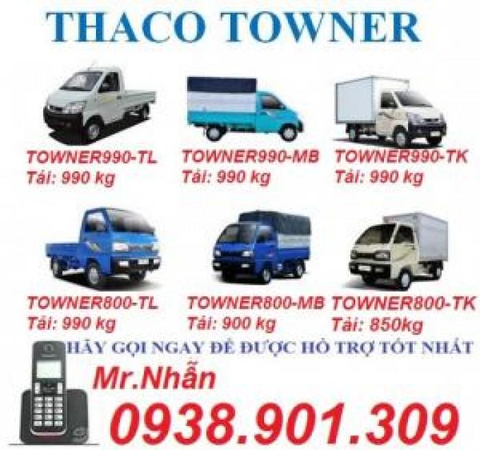 Giá xe tải nhỏ máy xăng 500kg,700kg,990kg,xe towner990, xe tải thaco towner990 - 990kg,chỉ với 70 triệu là có xe ngay. 2