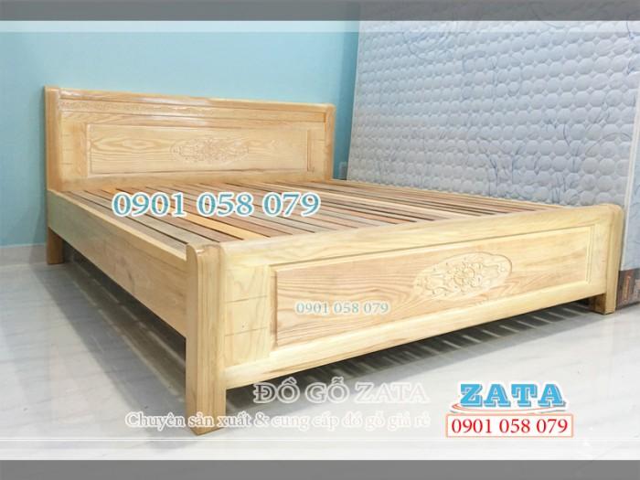 KHUYẾN MÃI - Giường ngủ gỗ Sồi tự nhiên 1m6 đẹp, bền, rẻ