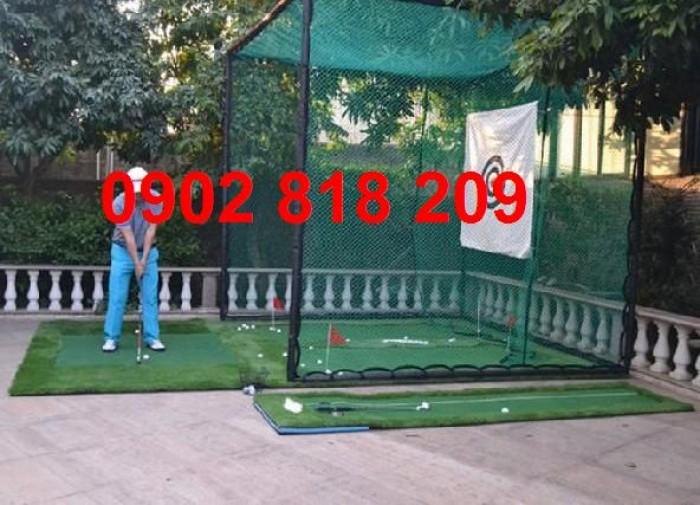 Thi công phòng chơi golf mini, mini golf2