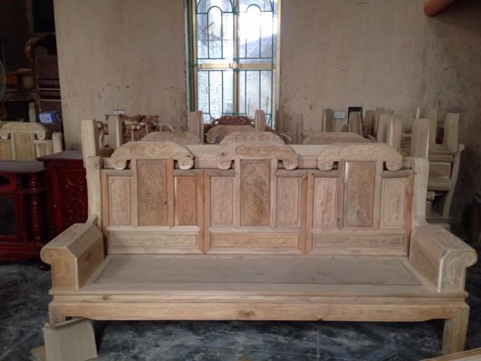 Bộ bàn ghế như ý hộp voi gỗ tràm 2m2 và 2m41