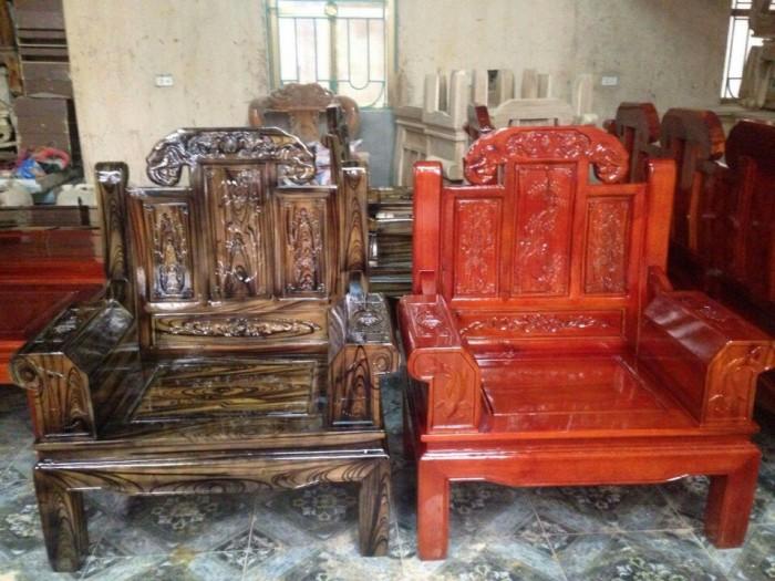 Bộ bàn ghế như ý hộp voi gỗ tràm 2m2 và 2m43