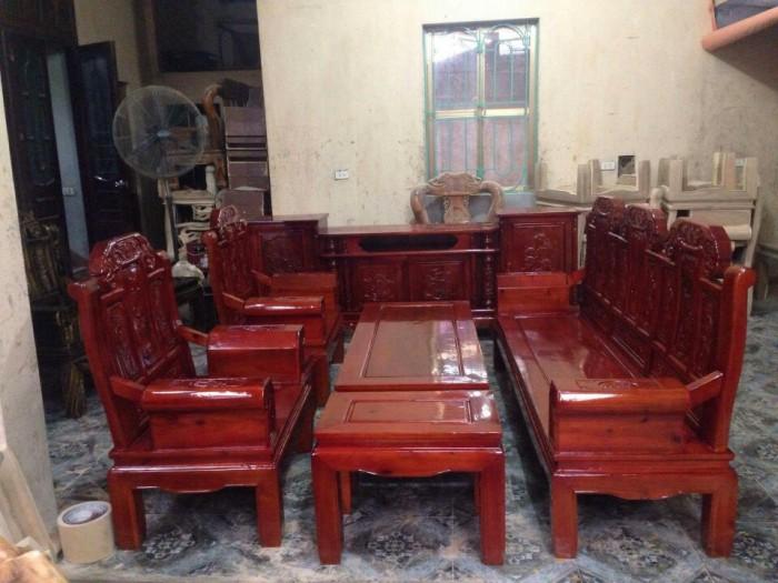 Bộ bàn ghế như ý hộp voi gỗ tràm 2m2 và 2m44