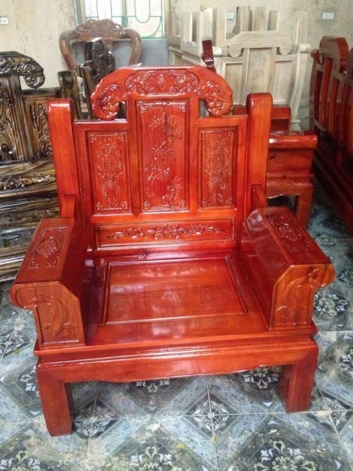 Bộ bàn ghế như ý hộp voi gỗ tràm 2m2 và 2m45