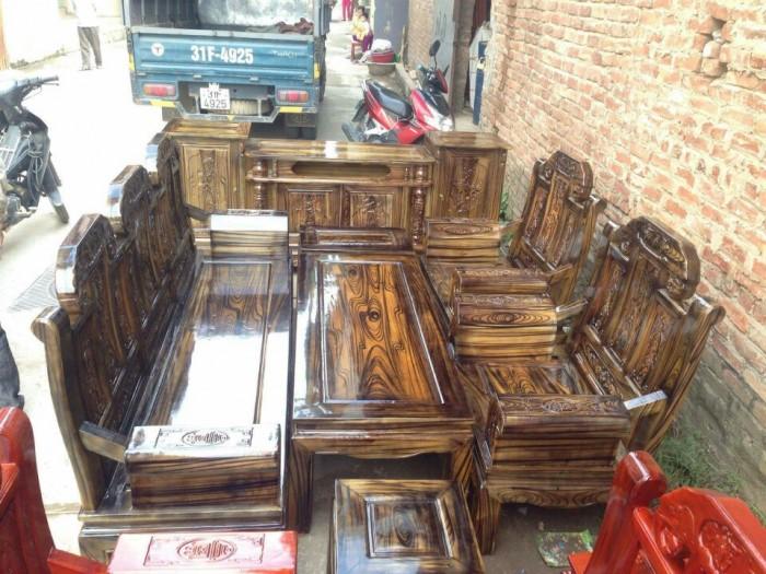 Bộ bàn ghế như ý hộp voi gỗ tràm 2m2 và 2m46
