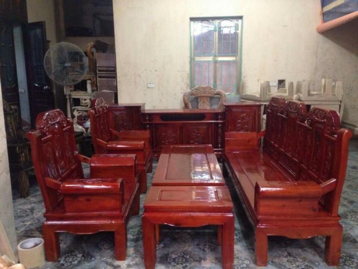 Bộ bàn ghế như ý hộp voi gỗ tràm 2m2 và 2m47
