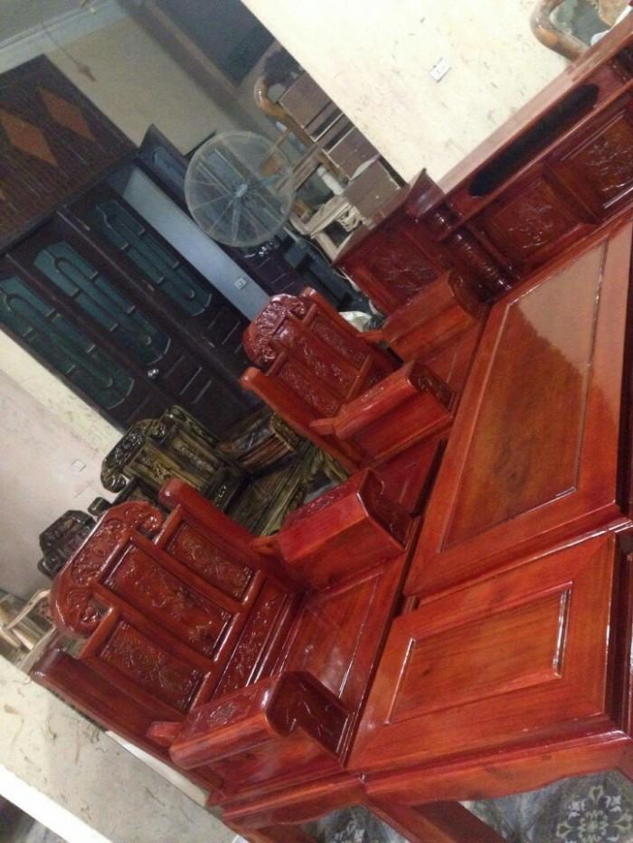 Bộ bàn ghế như ý hộp voi gỗ tràm 2m2 và 2m48