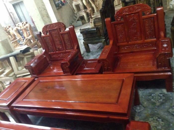 Bộ bàn ghế như ý hộp voi gỗ tràm 2m2 và 2m49