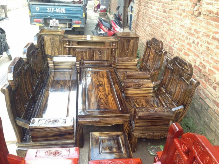 Bộ bàn ghế như ý hộp voi gỗ tràm 2m2 và 2m410