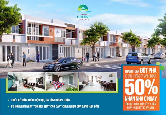 Bán nhà phố mặt đất GÍA RẺ HƠN căn hộ ,chỉ 898 triệu / căn 1lầu ,DTSD 120m2