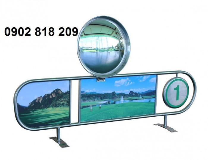 Vách ngăn sân tập golf inox1