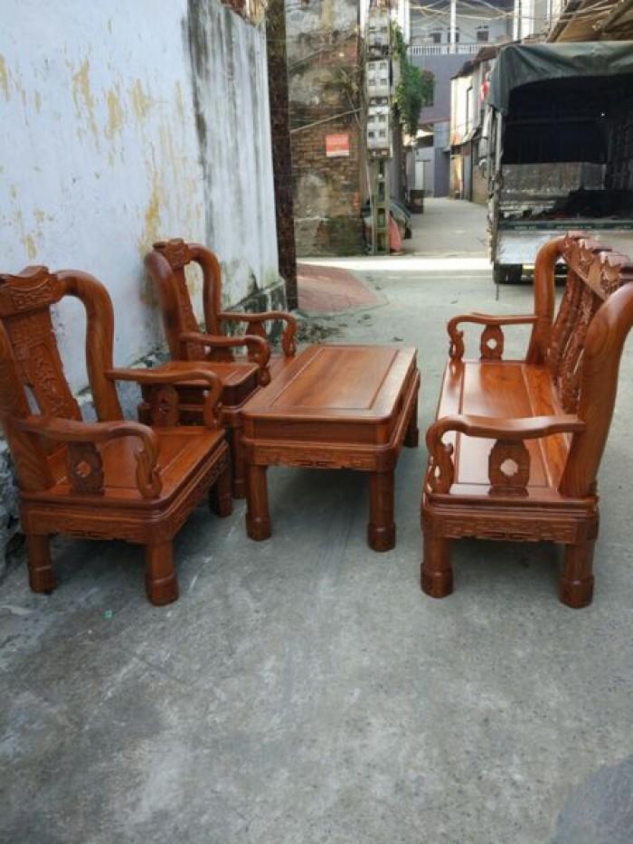 Bộ bàn ghế phòng khách minh quốc triện gỗ hương vân