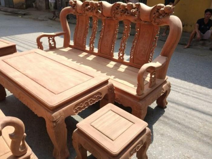 Bộ bàn ghế gỗ cẩm nam phi hàng đào tay 121