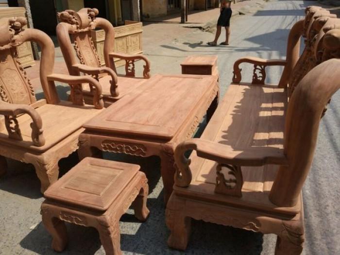 Bộ bàn ghế gỗ cẩm nam phi hàng đào tay 122
