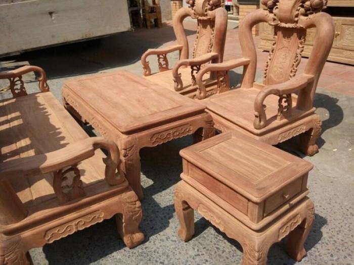 Bộ bàn ghế gỗ cẩm nam phi hàng đào tay 123