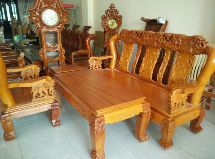 Bộ bàn ghế minh quốc voi gỗ gõ đỏ0
