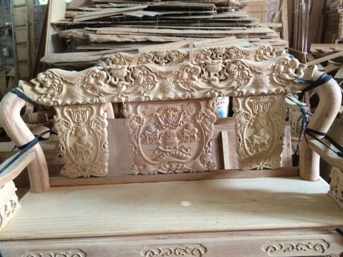 Bộ bàn ghế minh quốc voi gỗ gõ đỏ3