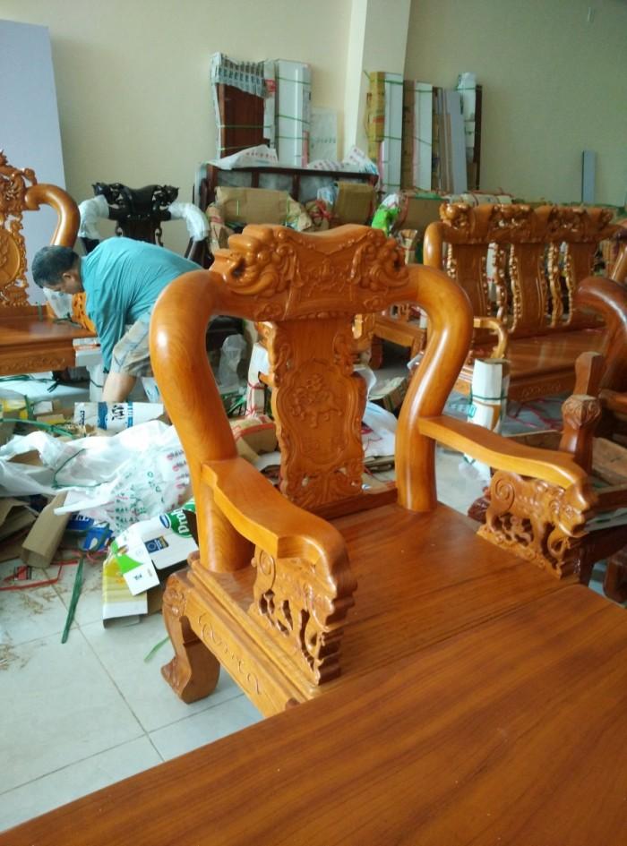 Bộ bàn ghế minh quốc voi gỗ gõ đỏ6
