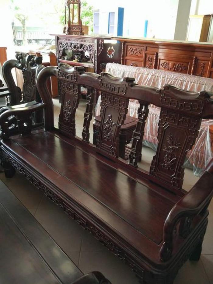 Bộ bàn ghế triện gỗ gụ2