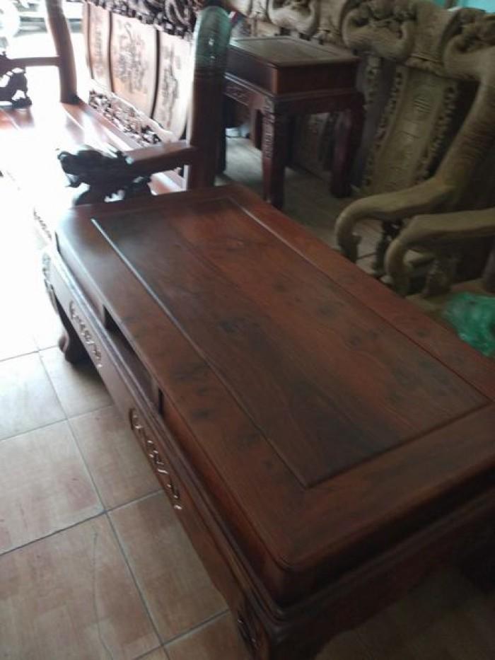 Bộ bàn ghế trạm nghê đỉnh gỗ hương vân1