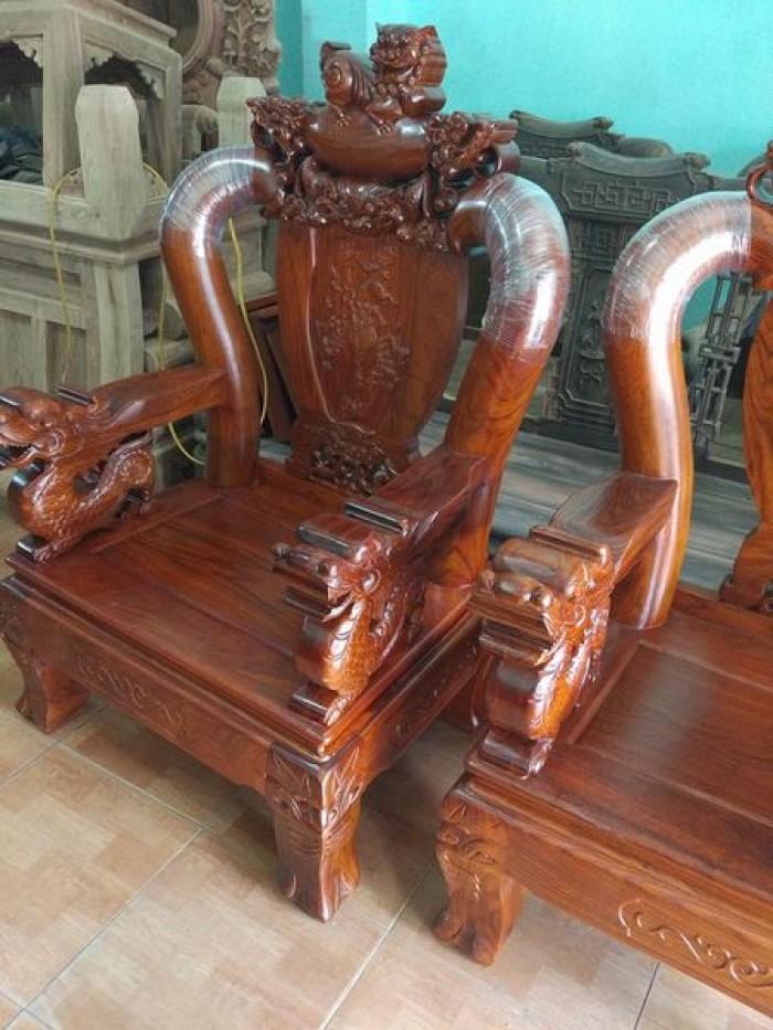 Bộ bàn ghế trạm nghê đỉnh gỗ hương vân2