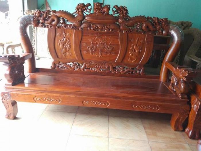 Bộ bàn ghế trạm nghê đỉnh gỗ hương vân3
