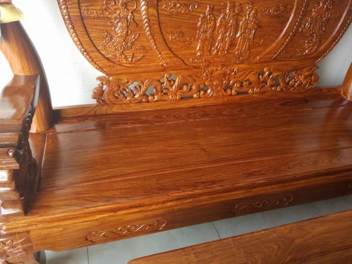 Bộ bàn ghế trạm nghê đỉnh gỗ hương vân10