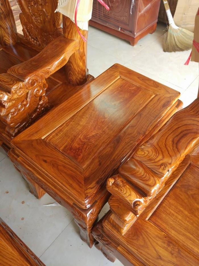 Bộ bàn ghế trạm nghê đỉnh gỗ hương vân13