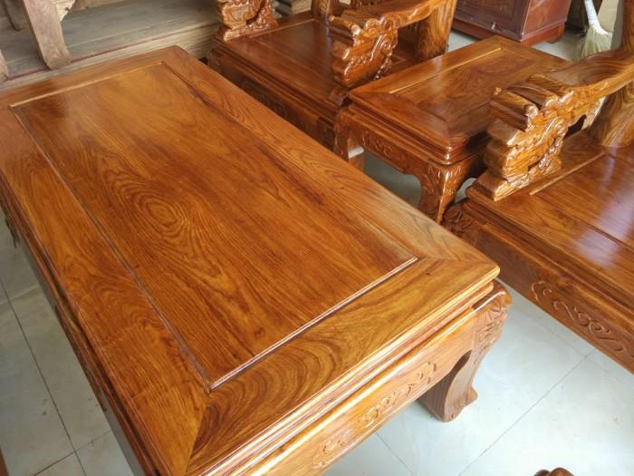 Bộ bàn ghế trạm nghê đỉnh gỗ hương vân15
