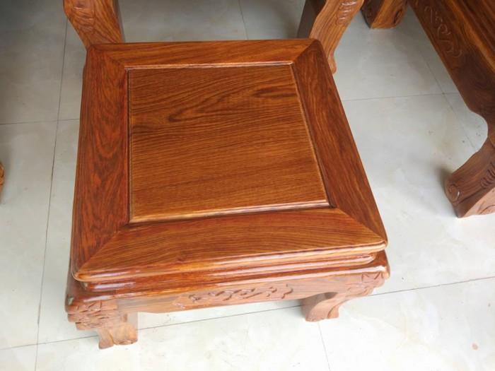 Bộ bàn ghế trạm nghê đỉnh gỗ hương vân16