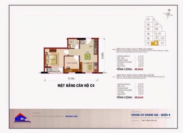 Căn hộ Khang Gia Chánh Hưng sắp bàn giao 50m2, 2PN, giá cực sốc, chỉ 1.05 tỷ