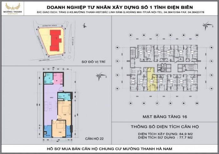 Bán căn hộ chung cư Mường Thanh Hà Nam S=85m2,2PN,2VS,2BC nhận nhà ngay, giá chỉ 964tr