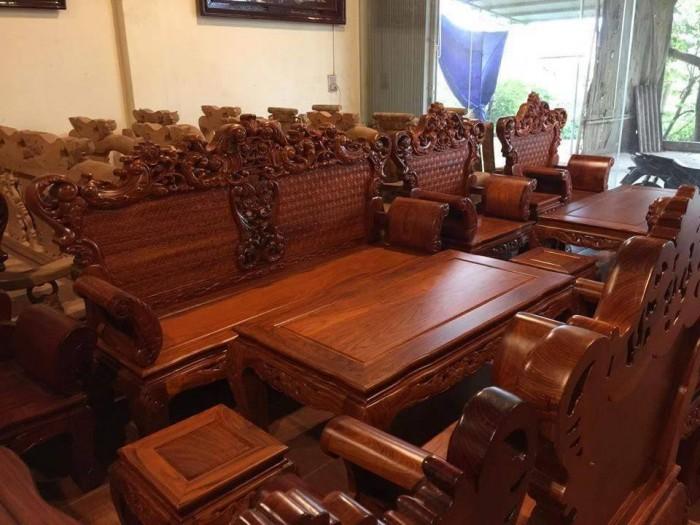 Bộ Bàn Ghế Hoàng Gia gỗ hương vân1