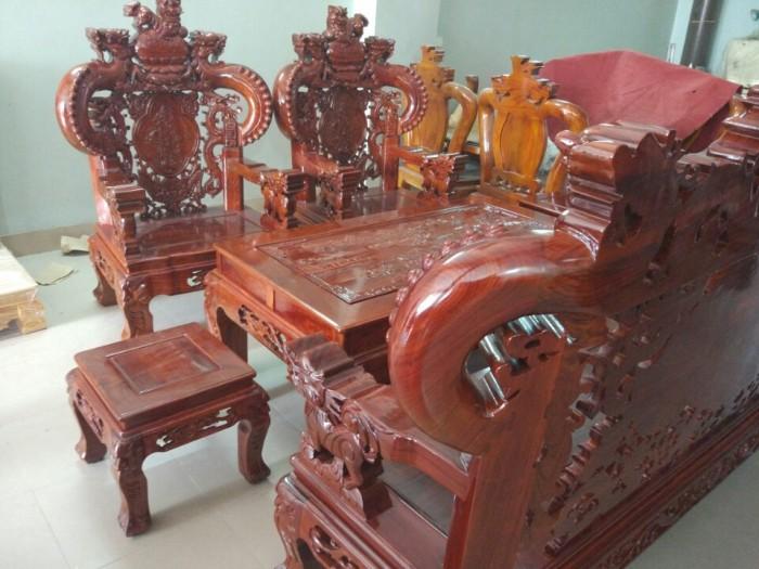 Bộ Bàn Ghế Nghê Đỉnh Tay Khuỳnh Gỗ Hương Vân3