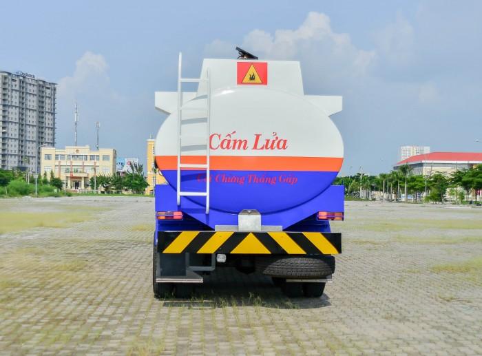 Xe bồn xăng dầu kamaz thùng xi téc 16-18m3, thép CT3, đáy 4mm thành bồn 4mm 1