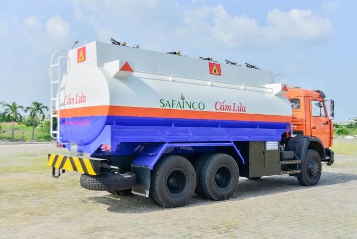 Xe bồn xăng dầu kamaz thùng xi téc 16-18m3, thép CT3, đáy 4mm thành bồn 4mm 2