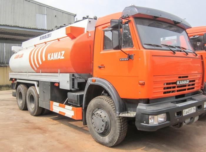 Xe bồn xăng dầu kamaz thùng xi téc 16-18m3, thép CT3, đáy 4mm thành bồn 4mm 4