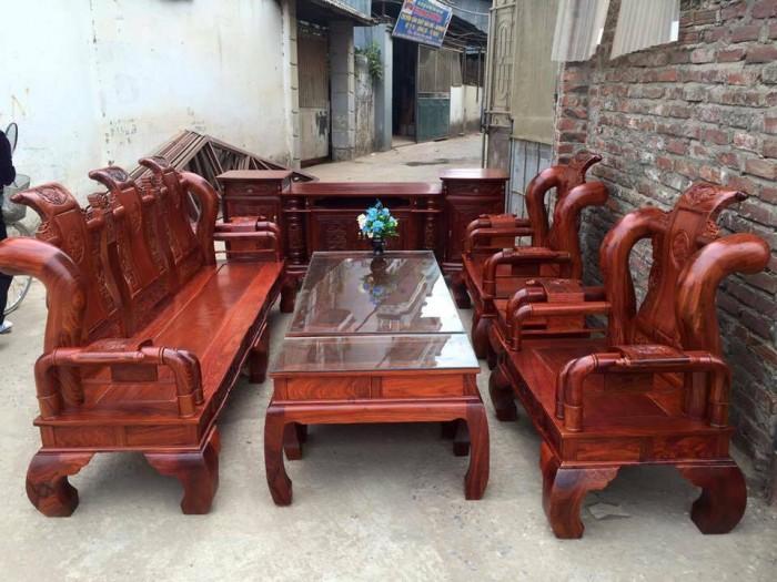 Bộ bàn ghế giả cổ tần thủy hoàng gỗ hương vân0