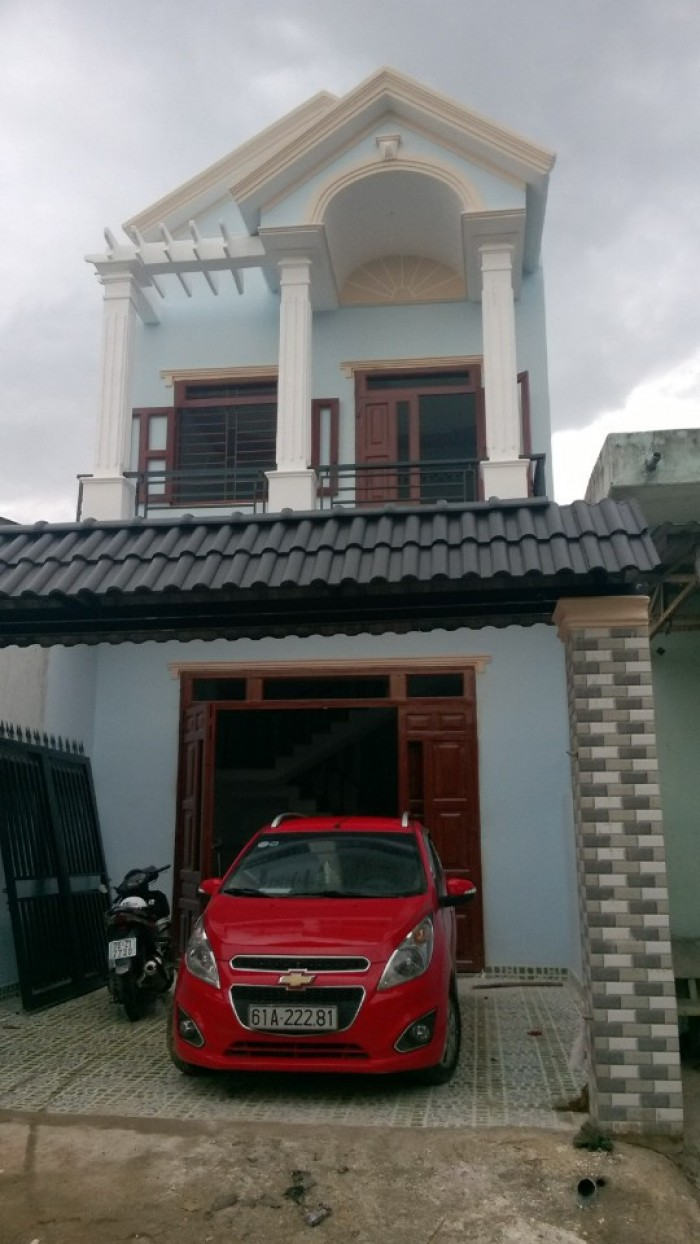 Bán Nhà mới xây 1 Trệt, 1 Lầu ngay Ngã 3 Lê Thị Trung – Giá 1,6 tỷ (bao sang tên)