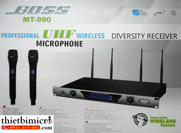 Micro không dây BOSS MT-990 thiết kế mới 4 anten1