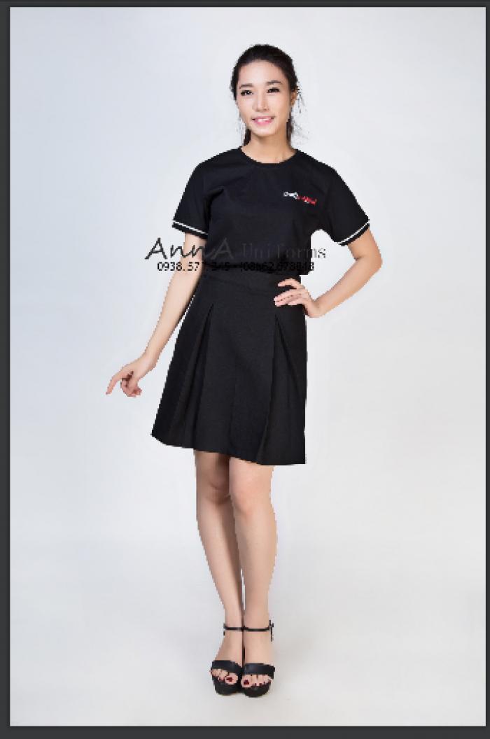 May áo thun cổ tròn, thiết kế đồng phục cho công ty Ba Lô Túi Xách đơn giản, tinh tế, chất liệu vải cao cấp tại AnnA Uniforms .