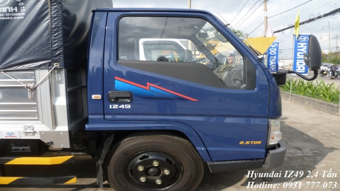 Xe tải Hyundai IZ49 Đô Thành - Xe tải Hyundai 2,4 tấn - Nhận đóng thùng theo yêu cầu khách hàng.