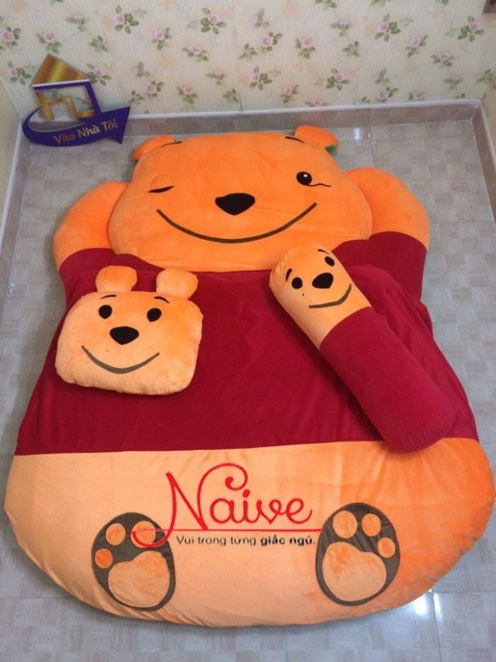 Nệm Thú Bông cao cấp Nhật Bản Gấu Pooh 140x190cm0