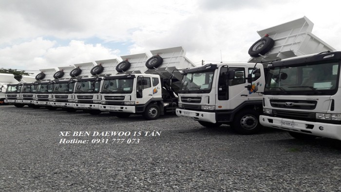 Xe Ben DAEWOO 15 Tấn - Hyundai Đô Thành - Hỗ trợ trả góp lãi suất thấp.