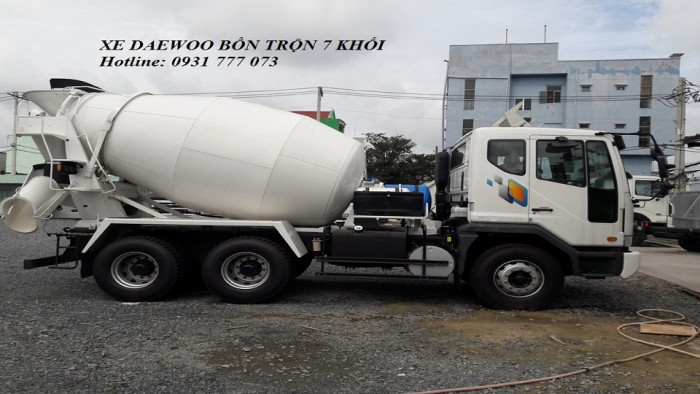 Xe DAEWOO Bồn Trộn 7 Khối - Hyundai Đô Thành - Hỗ trợ trả góp lãi suất thấp.