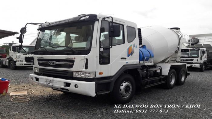 Xe DAEWOO Bồn Trộn 7 Khối - Hyundai Đô Thành - Hỗ trợ giao xe nhanh nhất.