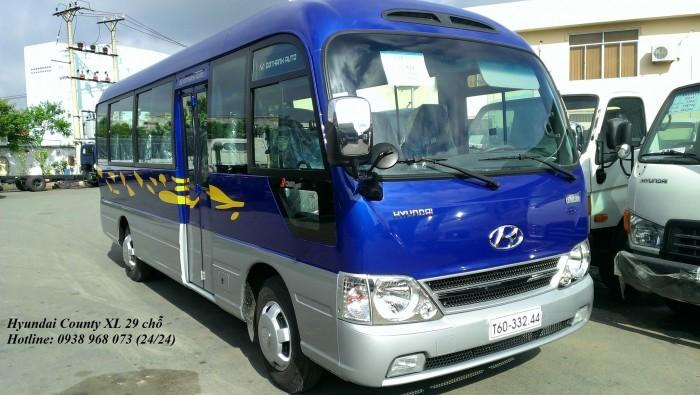 Xe 29 chỗ Hyundai County - Xe County 29 chỗ Thân dài XL - Hỗ trợ giao xe nhanh trong vòng 5 ngày.